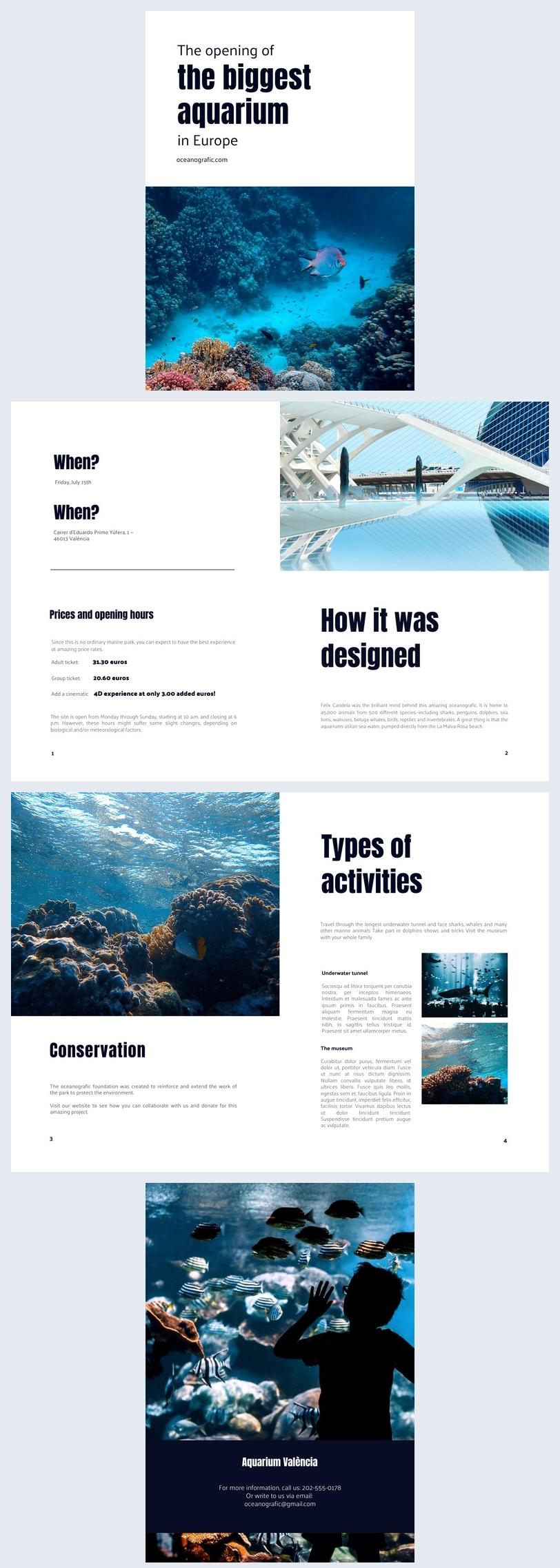 Unterhaltuns-Event-Broschüren-Design