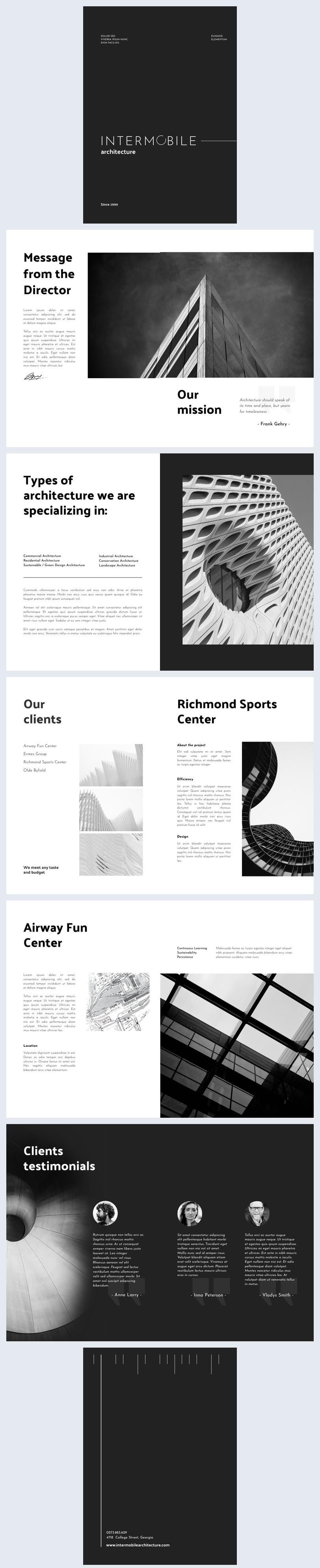 Design de Brochura Comercial Disponível para Download em PDF