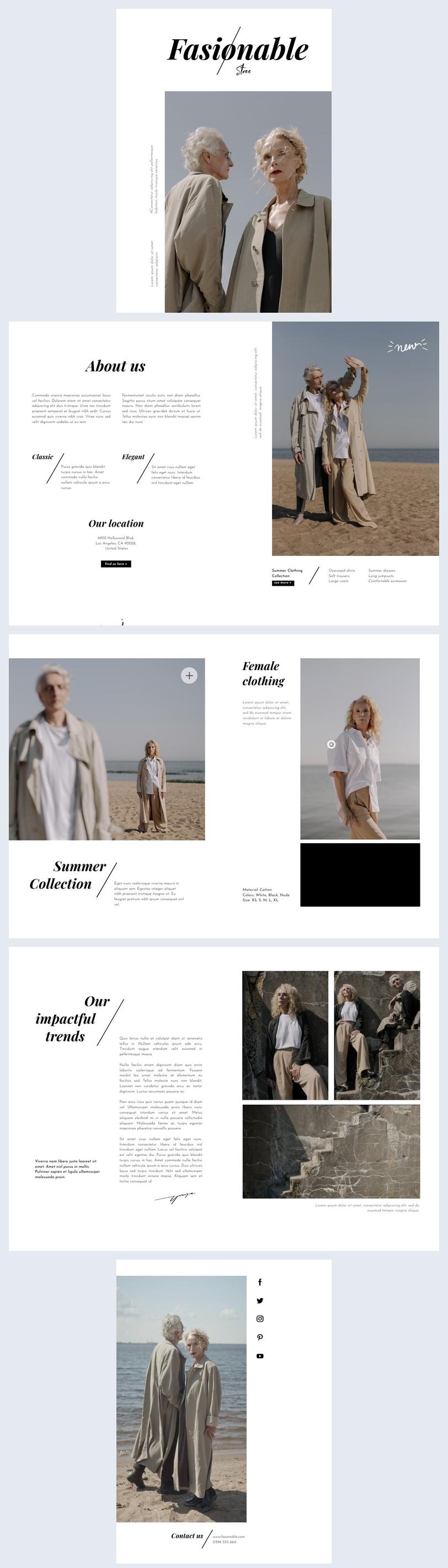Interactive Fashion Brochure Design Example