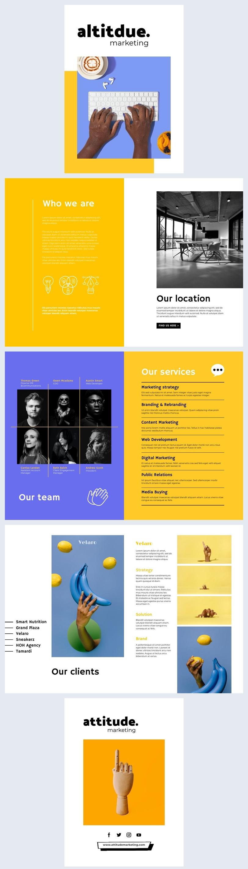 Design de Brochura de Marketing Interativa