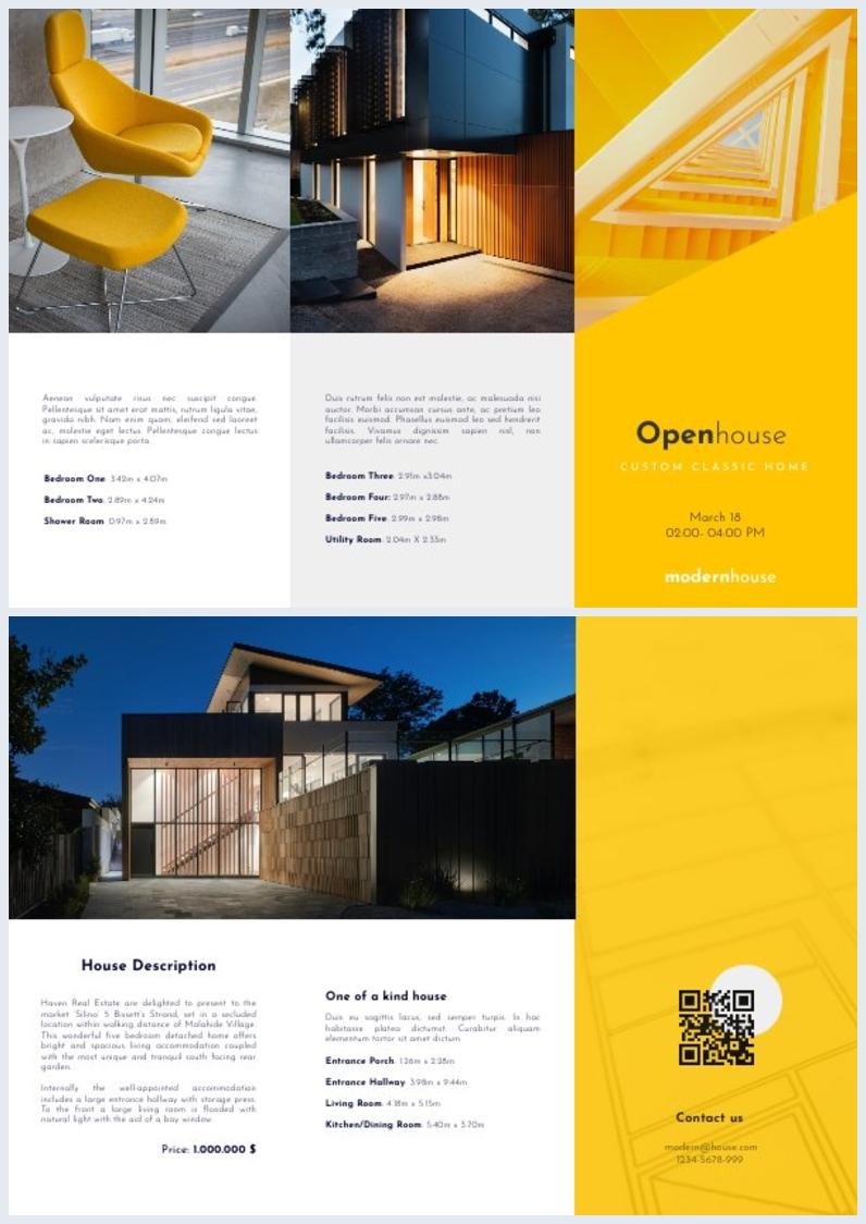 Open House Z-Fold Brochure Design