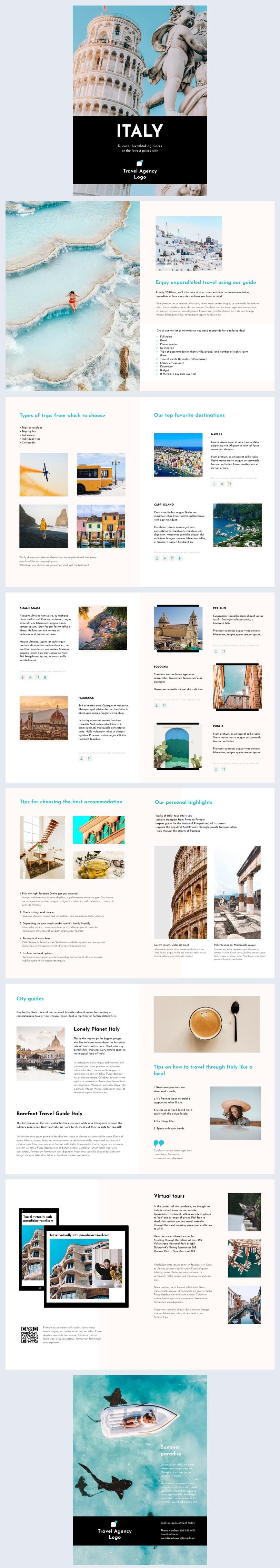 Free Travel Brochure Design Example