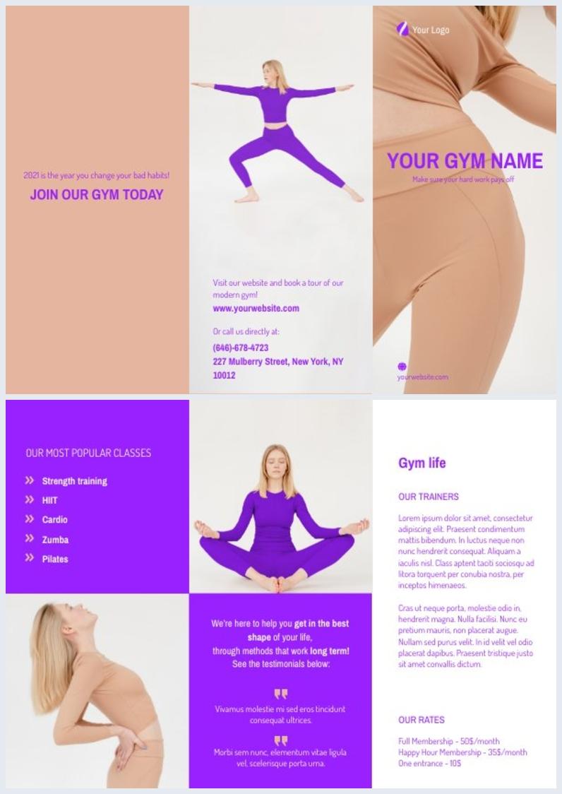 Fitness-Broschüren-Design-Mock-up
