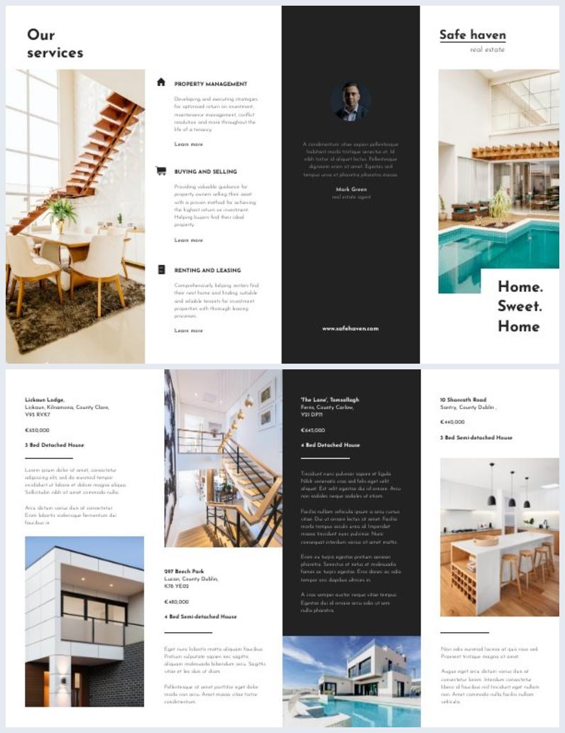 Gate Fold Real Estate Brochure Design Sample