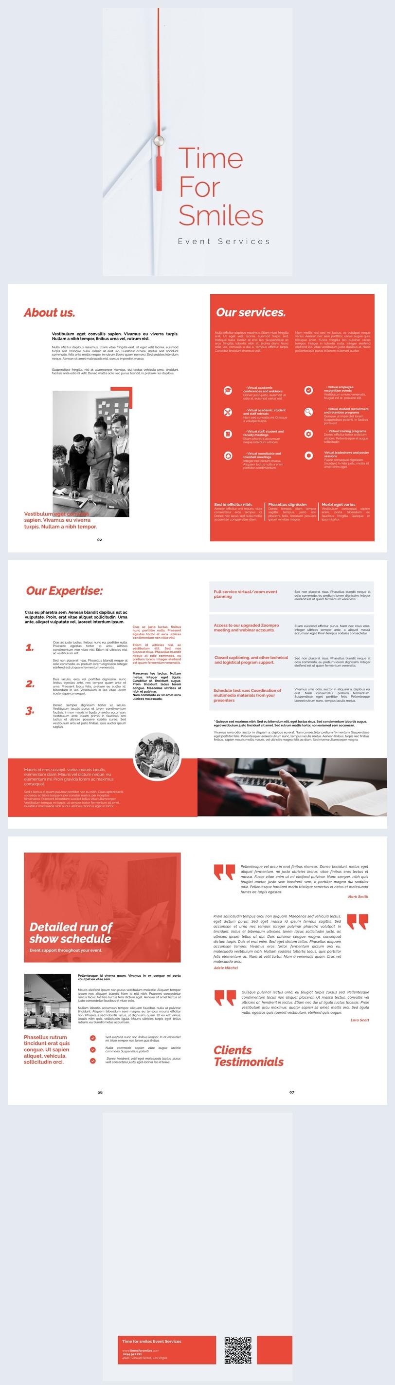 Grafica per opuscolo di sponsorizzazione a 8 pagine