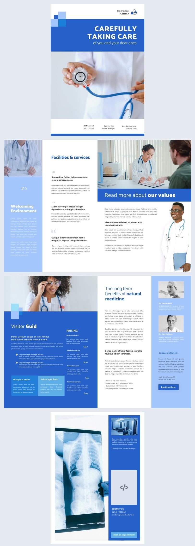Interactive Medical Brochure Design Example