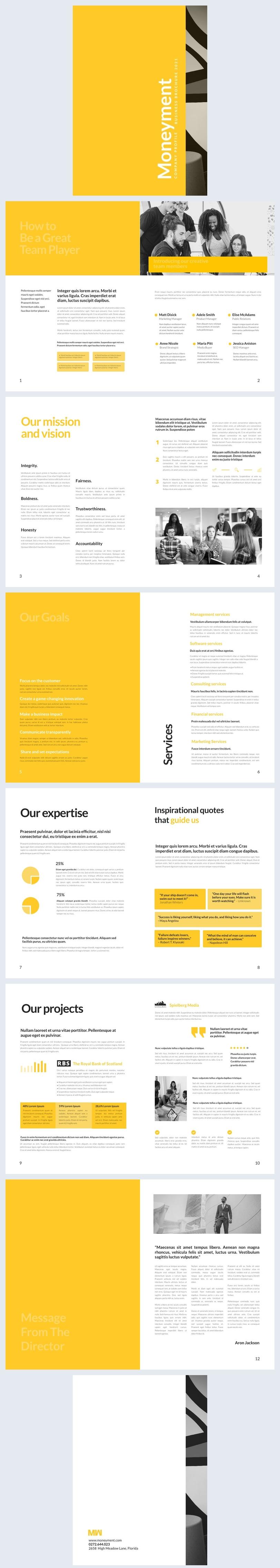 Bewerkbaar Digitale Bedrijfsbrochure Ontwerp Voorbeeld