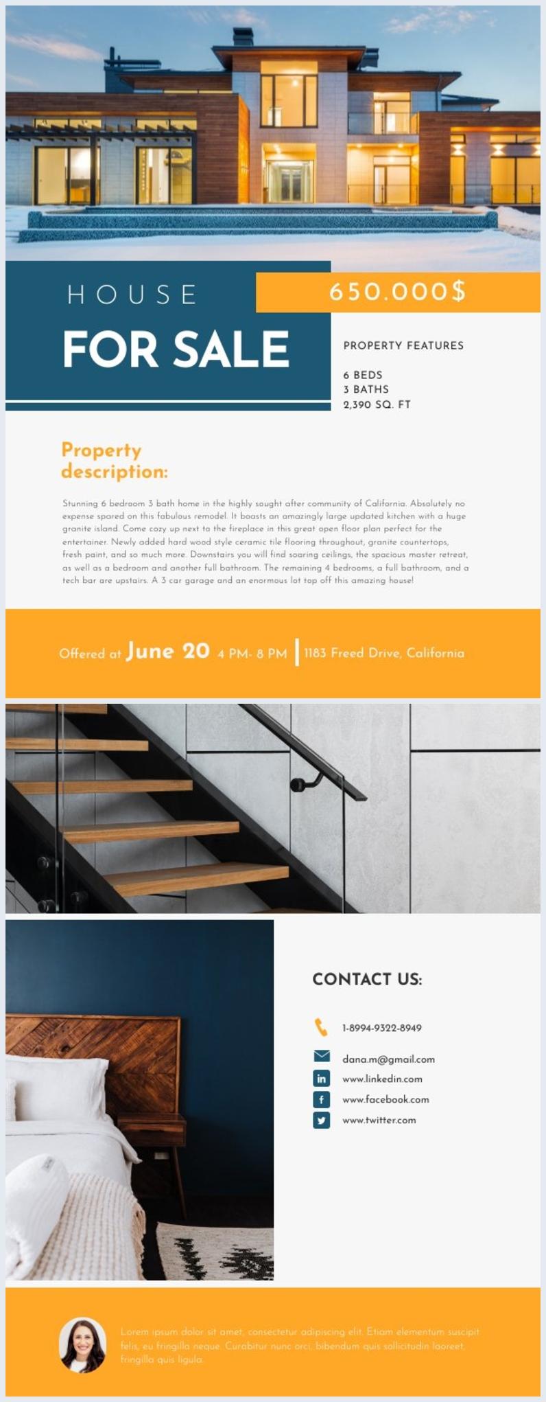 Gratis Online-Immobilien-Flyer-Beispiel
