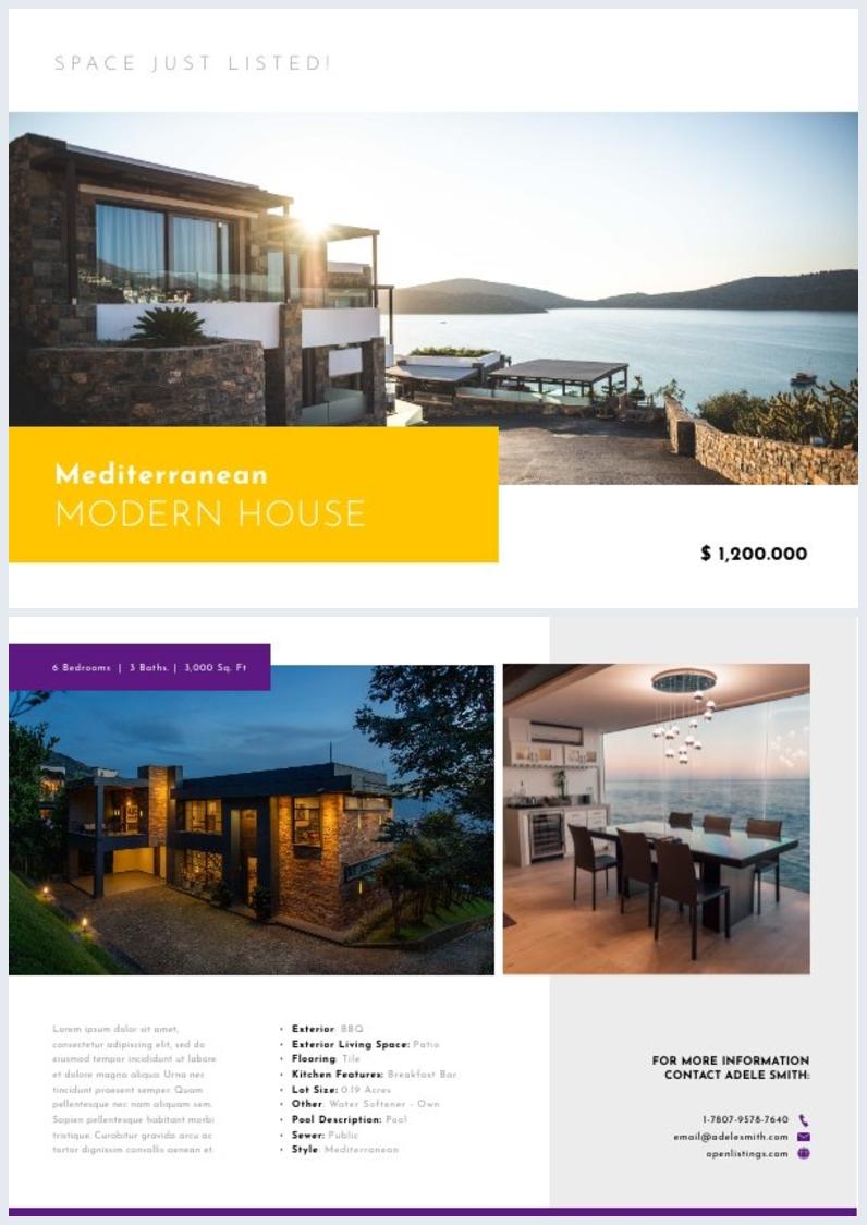 Real Estate Marketing Flyer Design Example