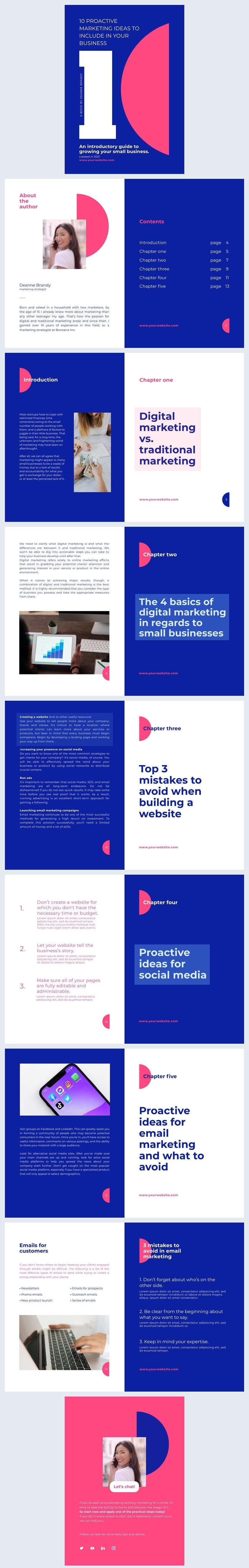 Exemple de design de ebooks de marketing interactif