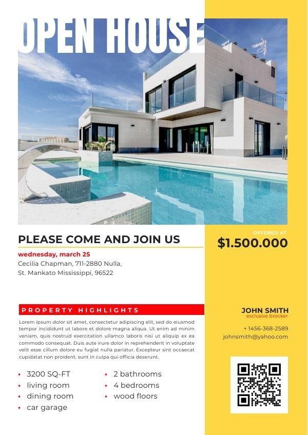 Digitaal Open huis Zakelijke Flyer Voorbeeld