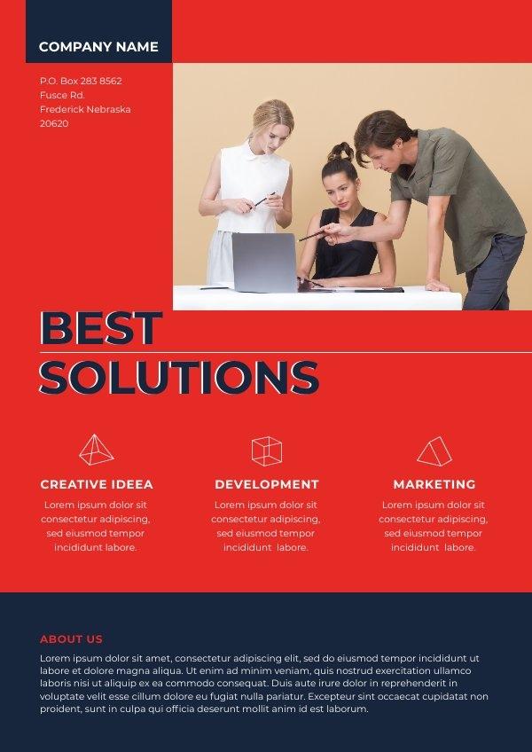 Gratis Online Oplossingen Bedrijf Flyer Voorbeeld