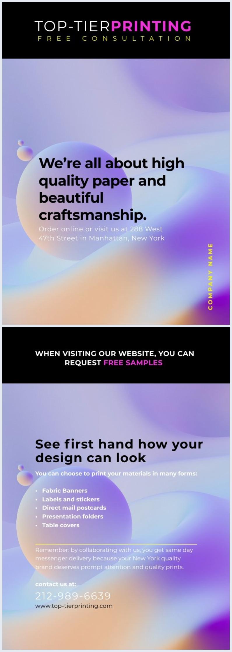 Afdrukbaar Zakelijke Flyer Ontwerp Voorbeeld