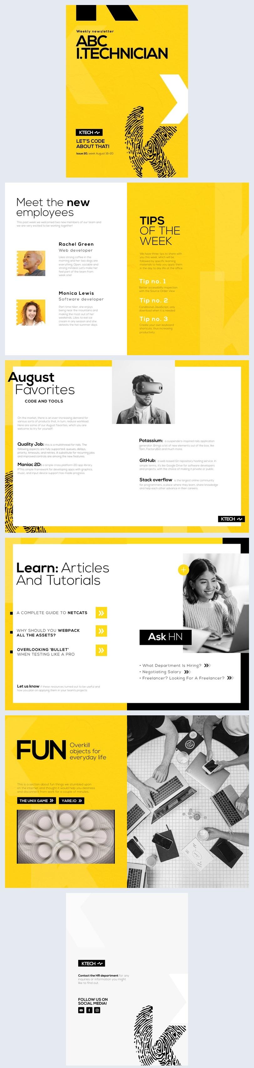 Idea gratuita per newsletter da azienda IT
