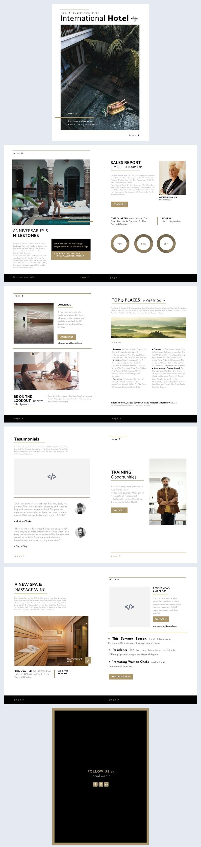 Exemplo de Design de Newsletter de Empresa de Viagens Grátis