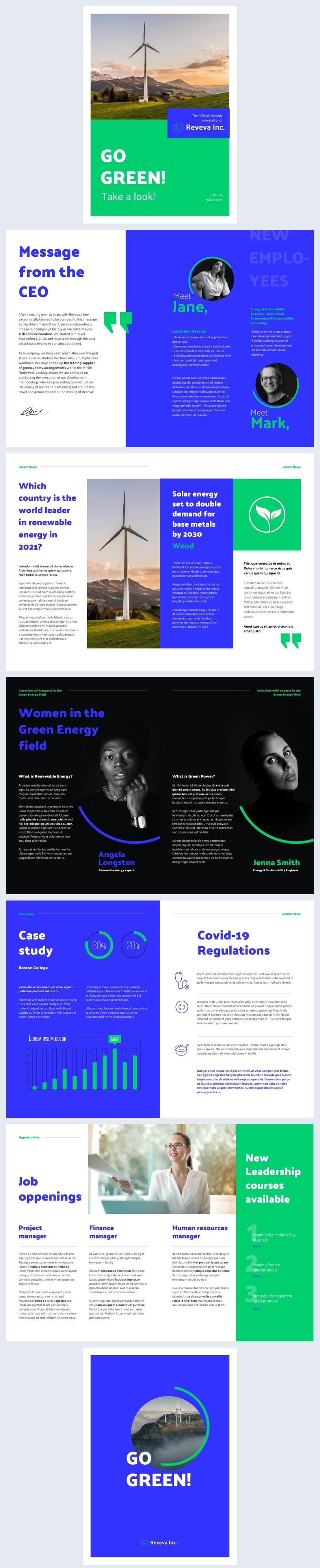 Idea de diseño gratuito para boletín empresarial en línea