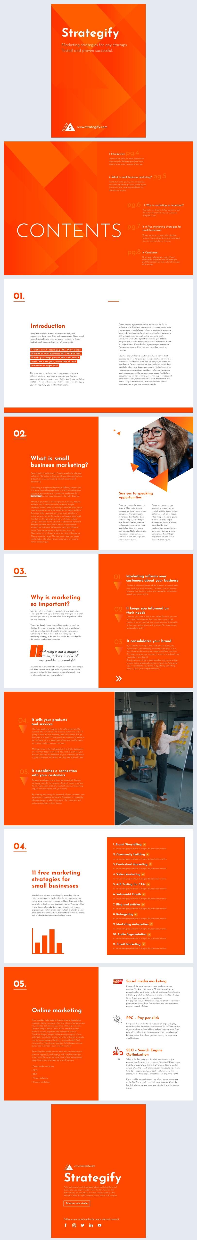 Muestra de diseño gratis para Ebook de marketing digital