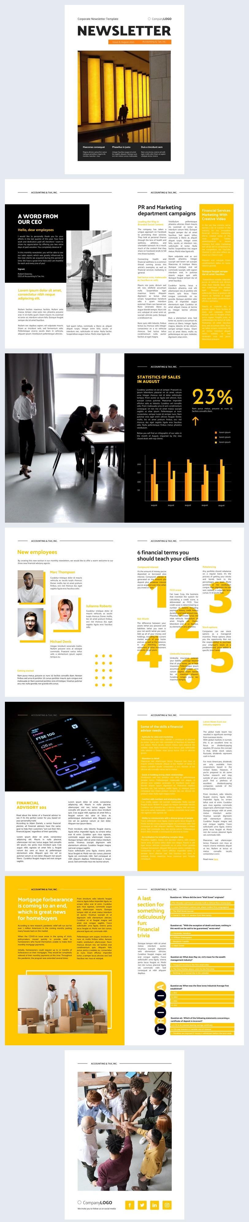 Idea de diseño gratuita para boletín empresarial