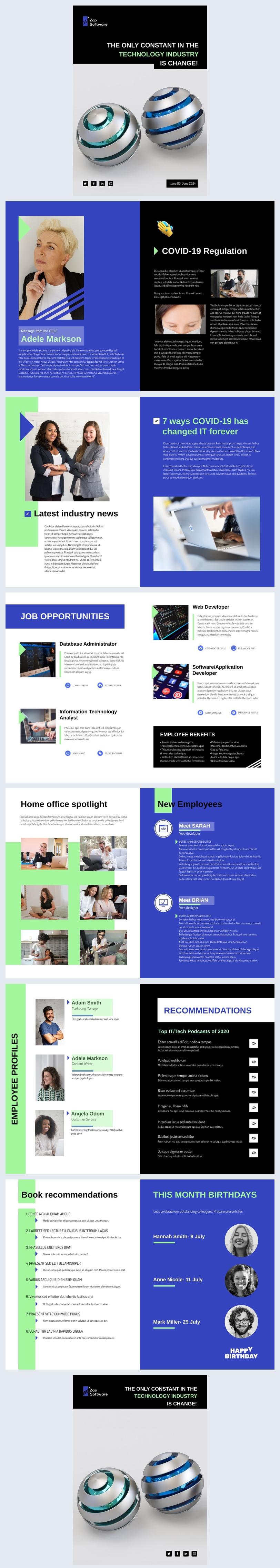 Design de Newsletter de Comunicações Internas Grátis