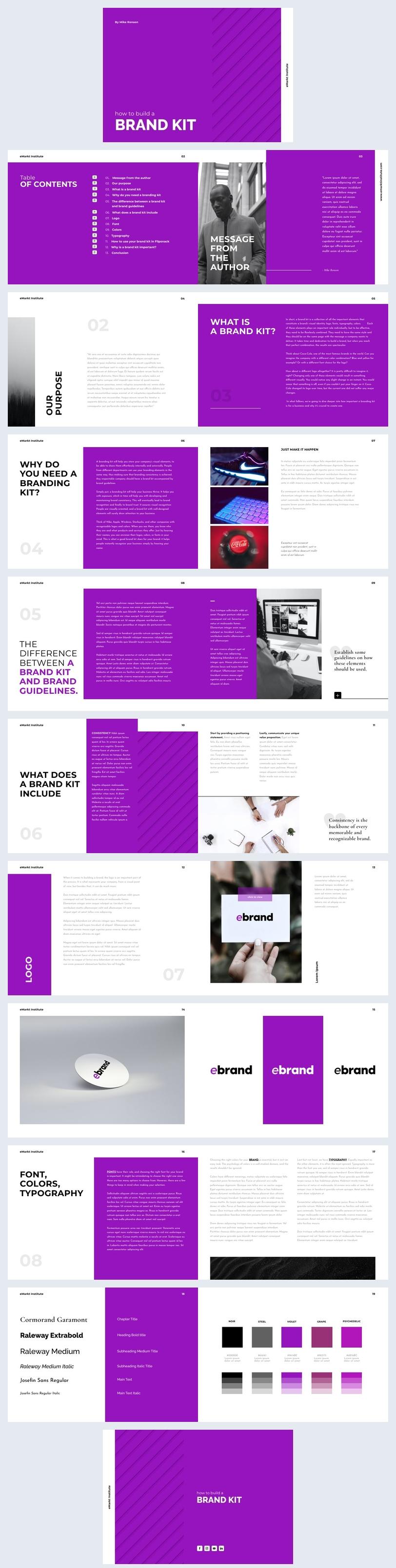 Free Digital Brand Kit Ebook Design Idea
