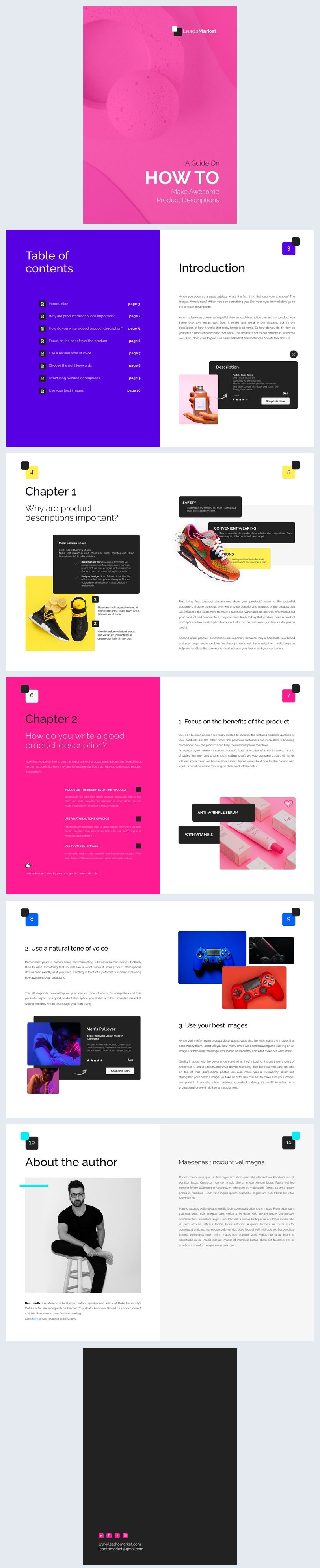 Customizable Product Marketing Ebook Design Example