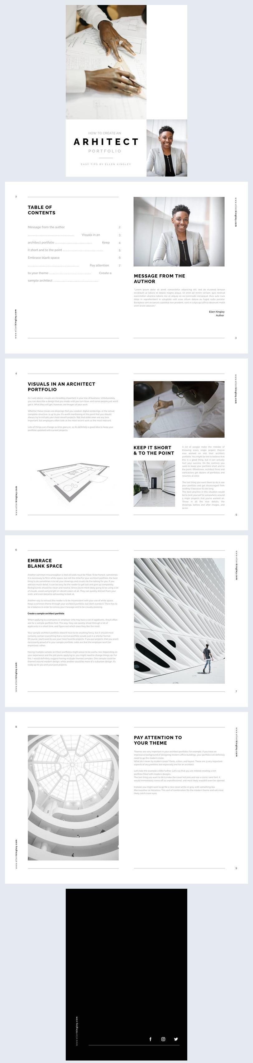 Digital Architecture Portfolio eBook Design Example
