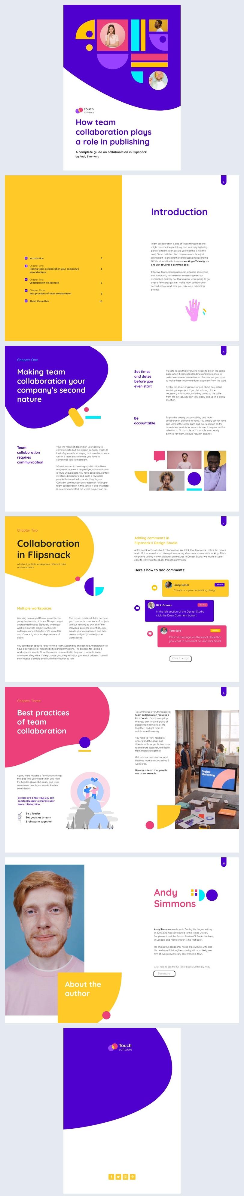 Editable Interactive Collaboration Ebook Design Example