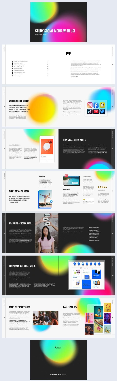 Interactive Social Media Study eBook Design Example