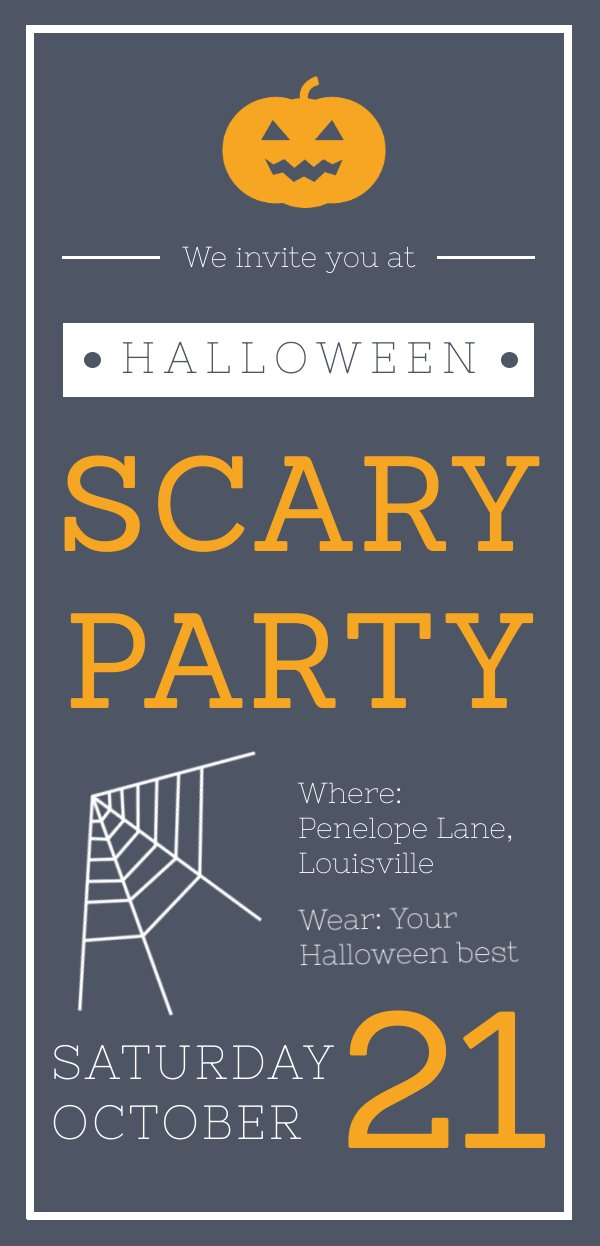 Halloween Scary Party Invitation Template & Design - Flipsnack
