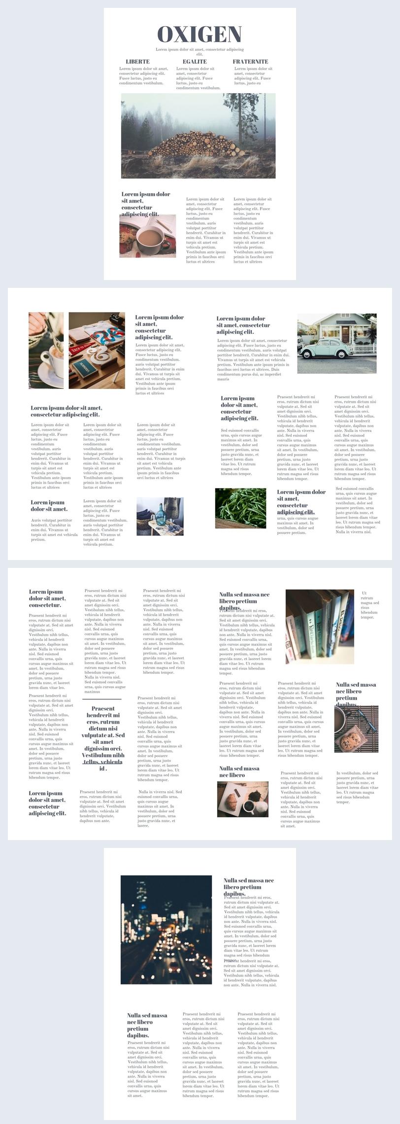 Diseño para periódico en línea