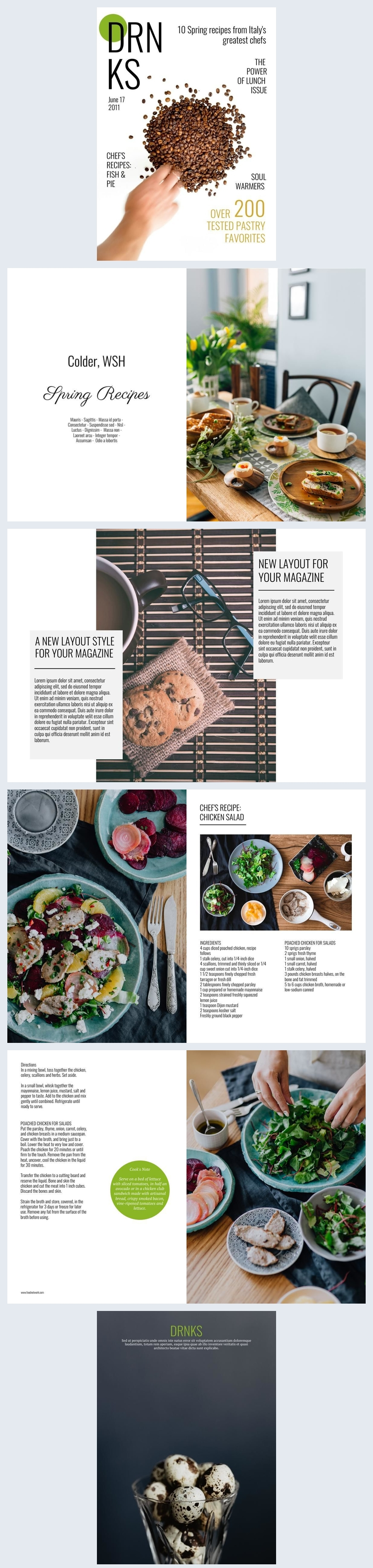 Food Magazine Design