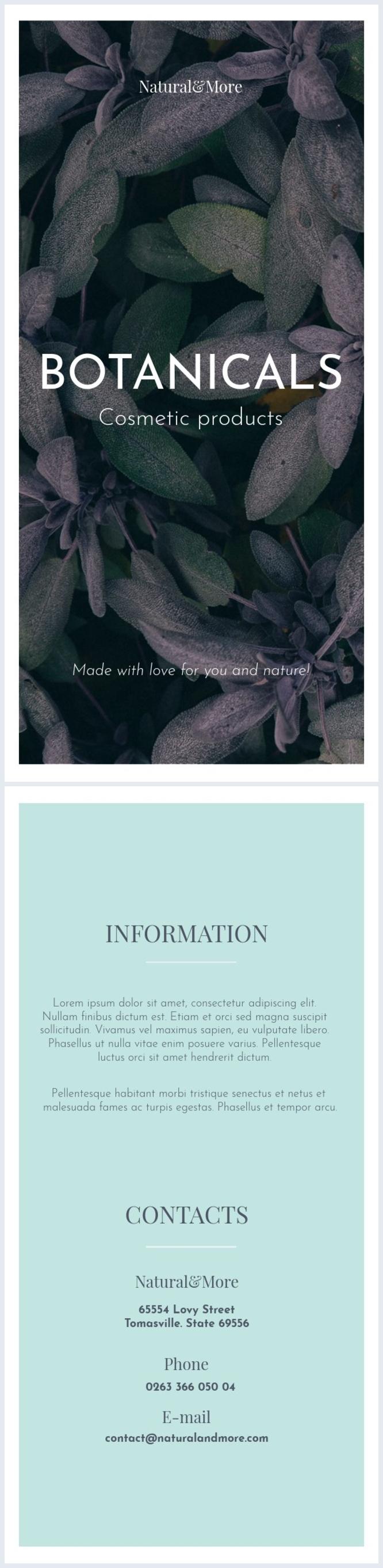 Organic Cosmetics Flyer