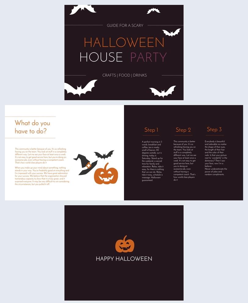 Halloween feest gids Voorbeeld