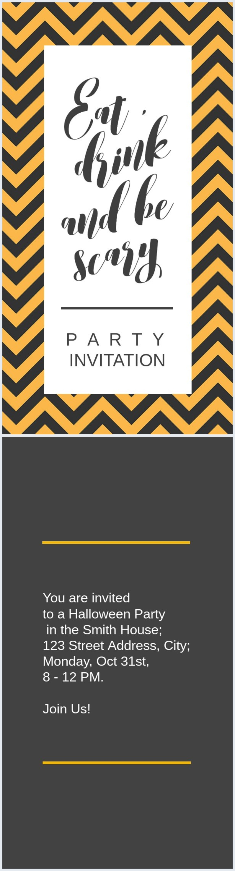 Halloween Party Invitation Example