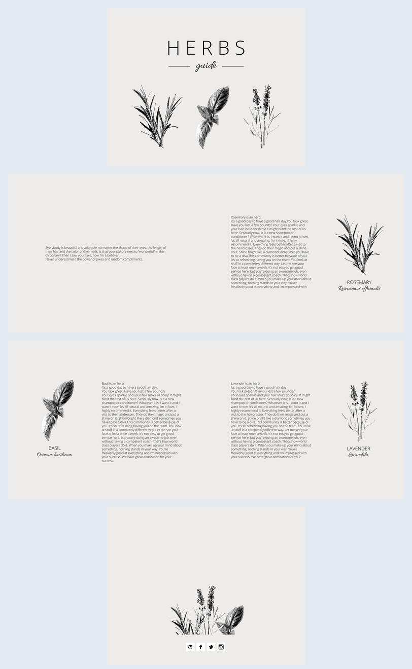 Design minimalista per presentazione