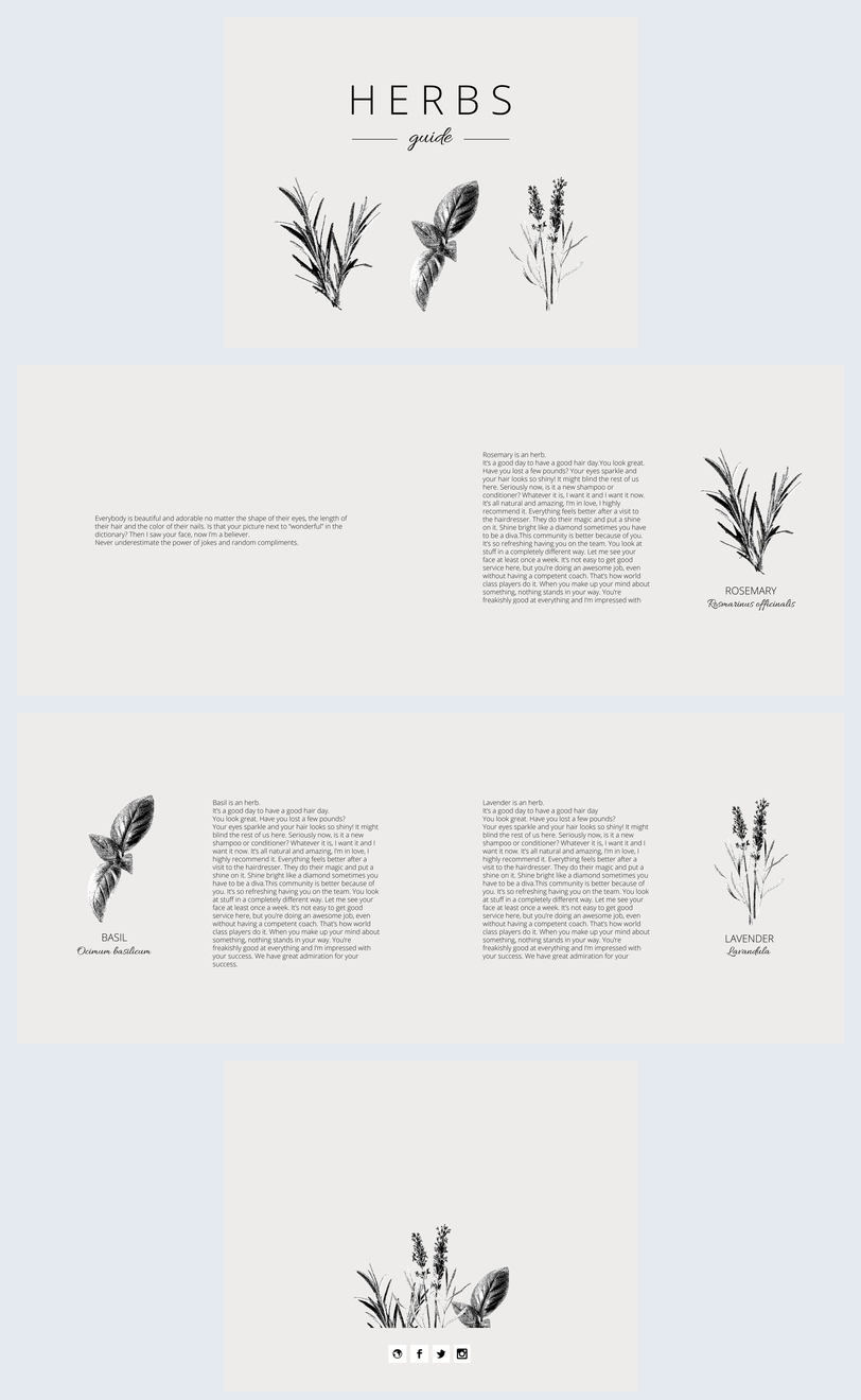 Minimalistisch presentatie ontwerp