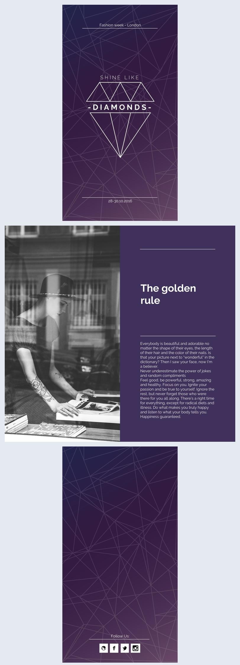 Purple Fashion Brochure Design