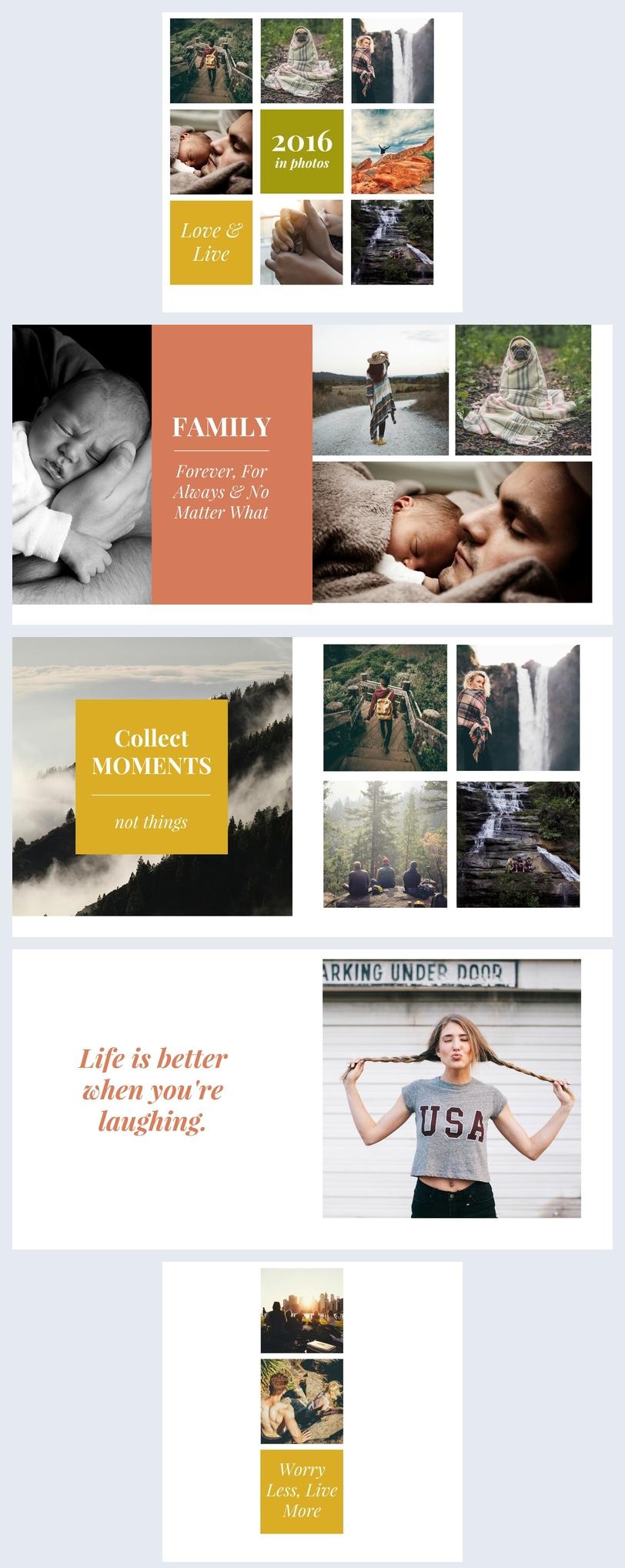 Design de Álbum de Fotos de Família
