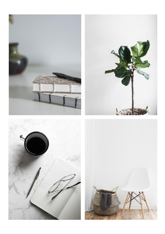 free minimalist magazine template  u0026 design