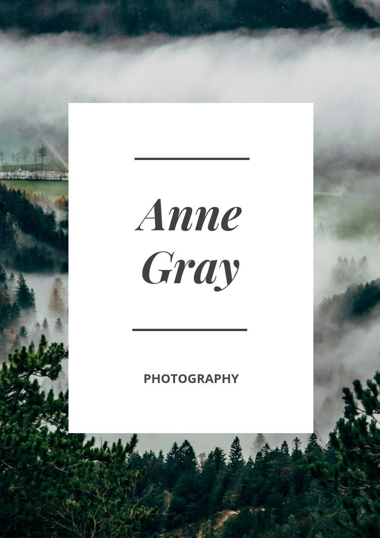 Nature Photographer Portfolio Design