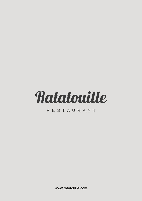 Speisekarte eines klassischen Restaurants