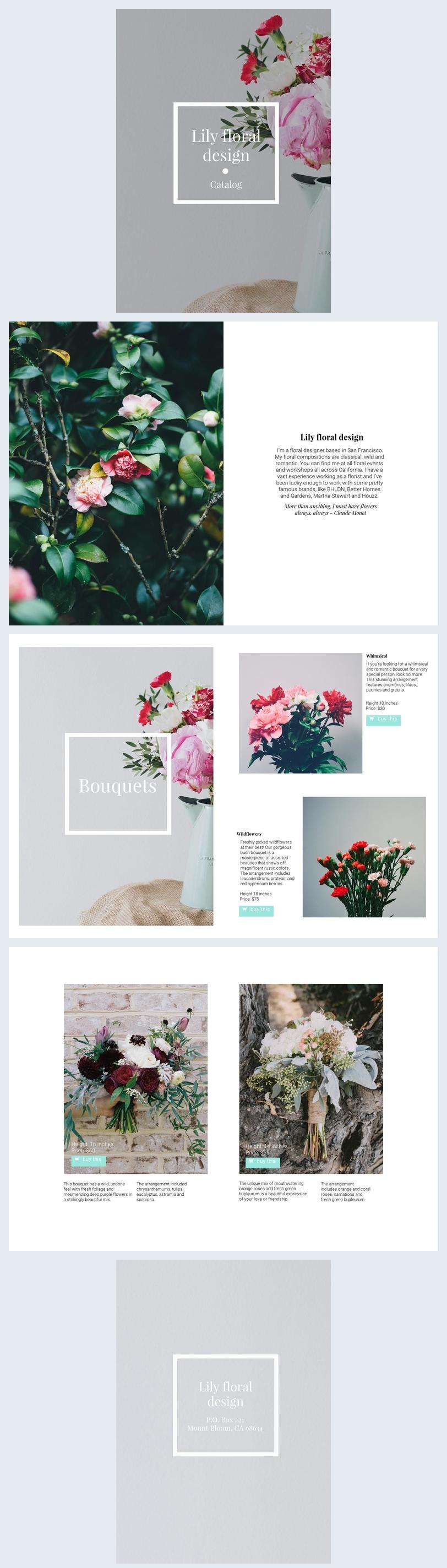 Design für einen Online-Katalog