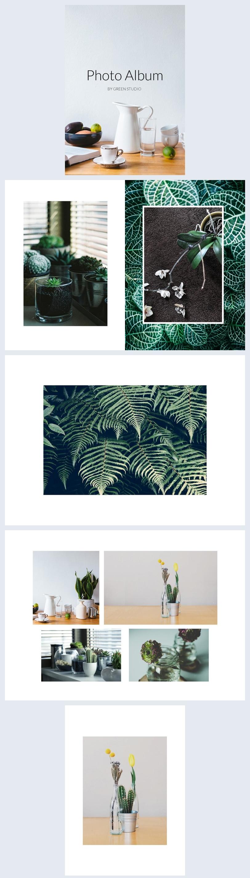 Diseño para álbum fotográfico en línea
