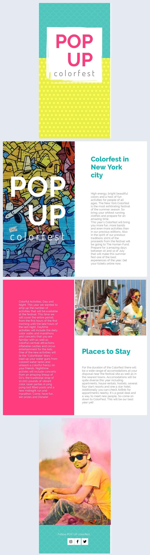 Kleurrijke festival brochure ontwerp