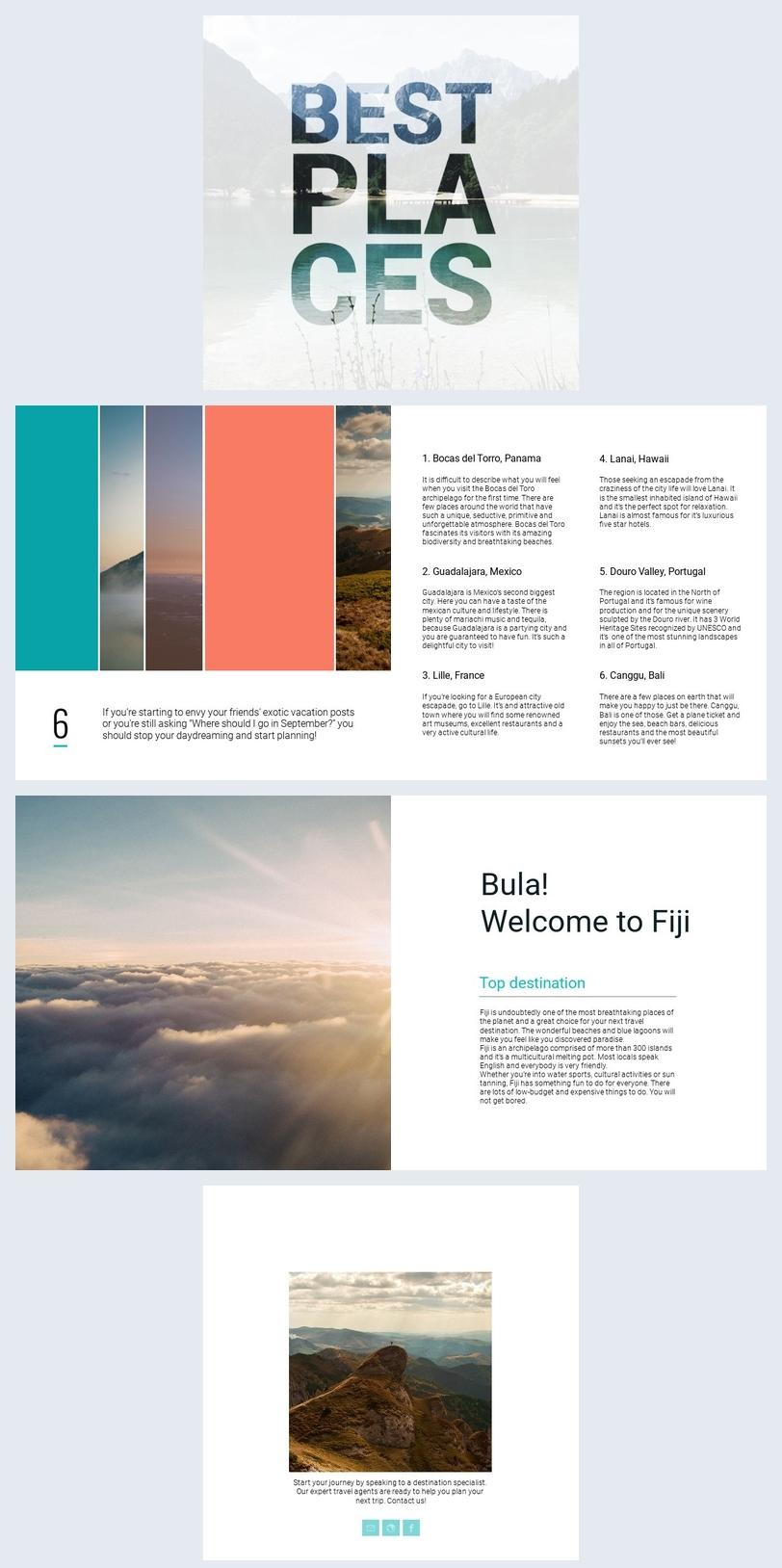 Design de Brochura de Guia De Viagem