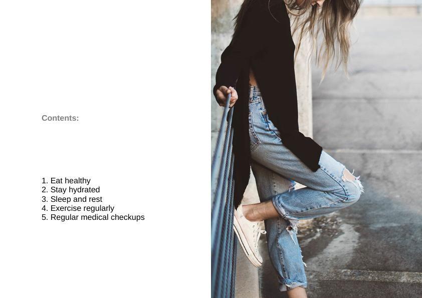 Healthy Lifestyle Brochure