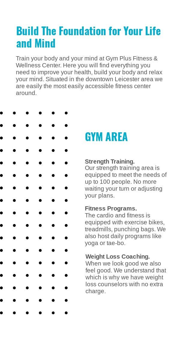 Broschüren-Vorlage für ein Fitness- und Gymnastikstudio - Flipsnack