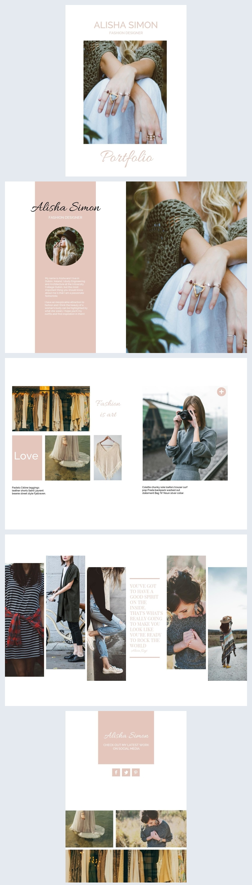 Women S Fashion Portfolio Templates Design Flipsnack