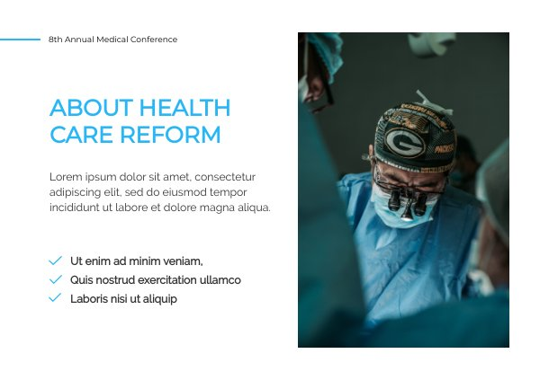 Medical Presentation Design