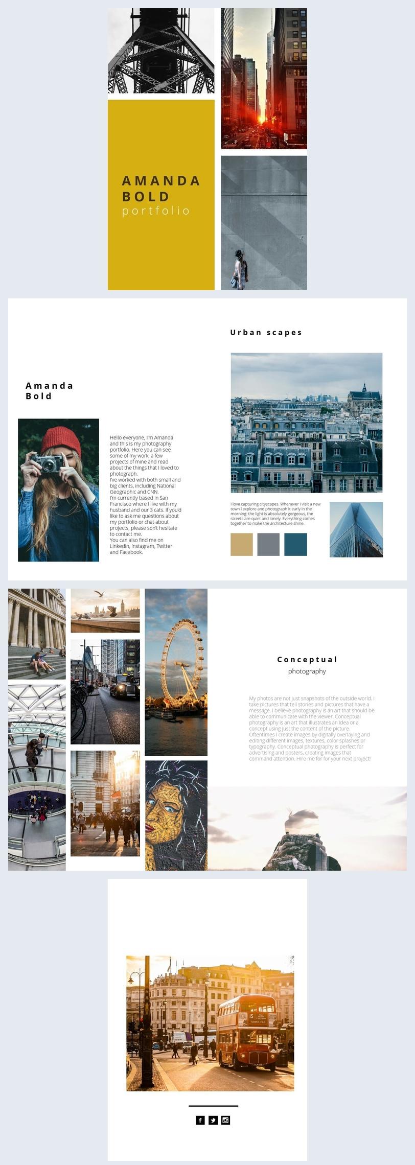 Modern Fotografie Portfolio Ontwerp